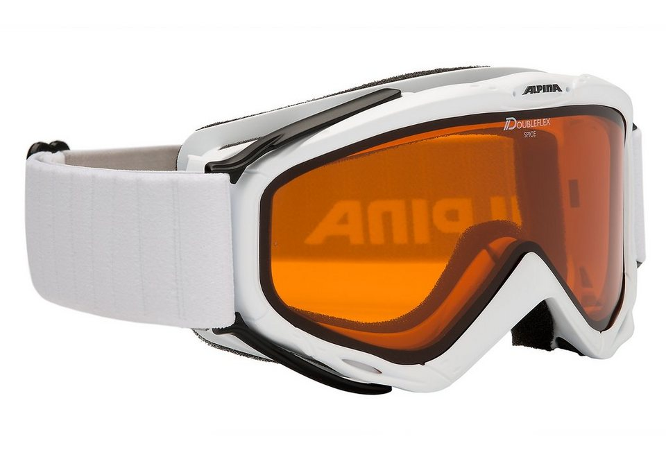 Skibrille weiß, Alpina, »Spice Dhl«, Made in Germany