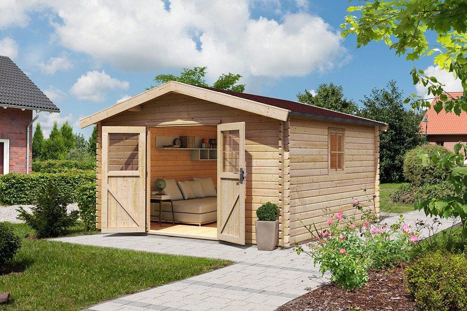 konifera set gartenhaus m hlheim 6 bxt 407x410 cm inkl fu boden online kaufen otto. Black Bedroom Furniture Sets. Home Design Ideas