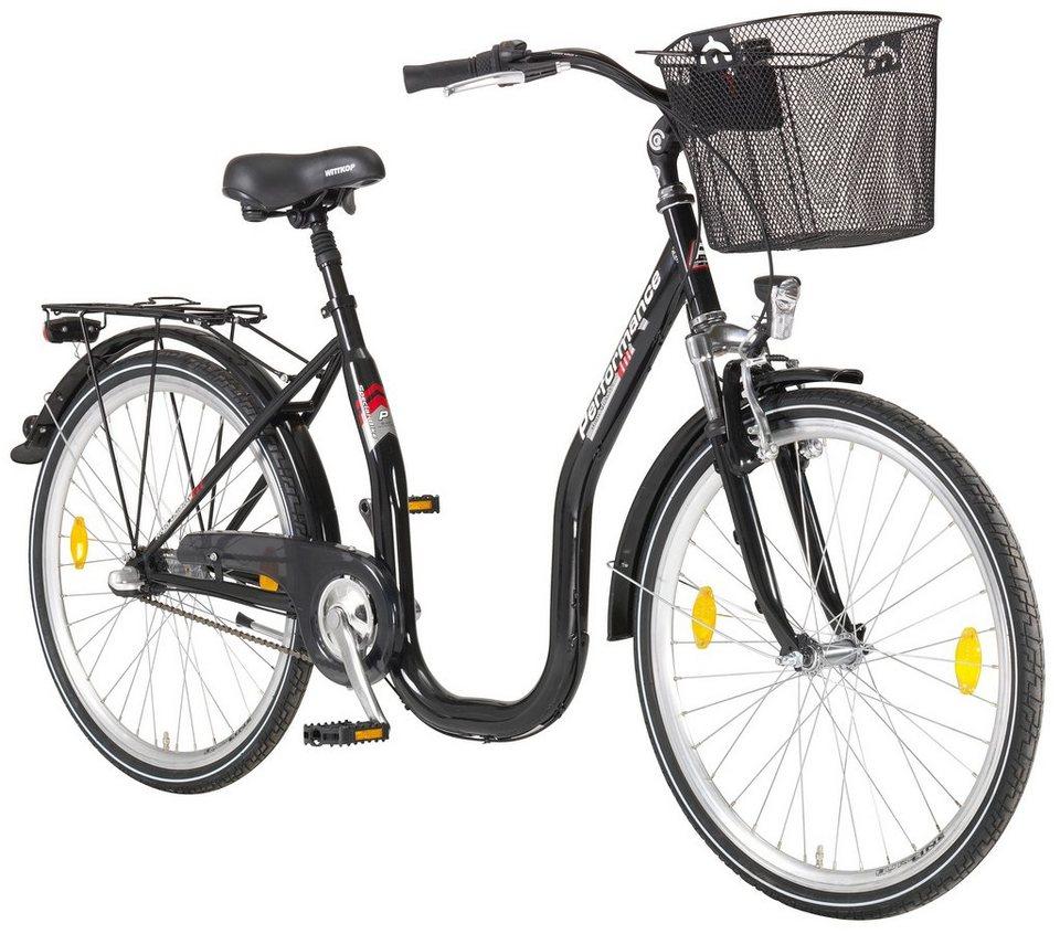 Citybike Tiefeinsteiger »Sylt«, 26/28 Zoll, 1 Gang, Rücktrittbremse in schwarz