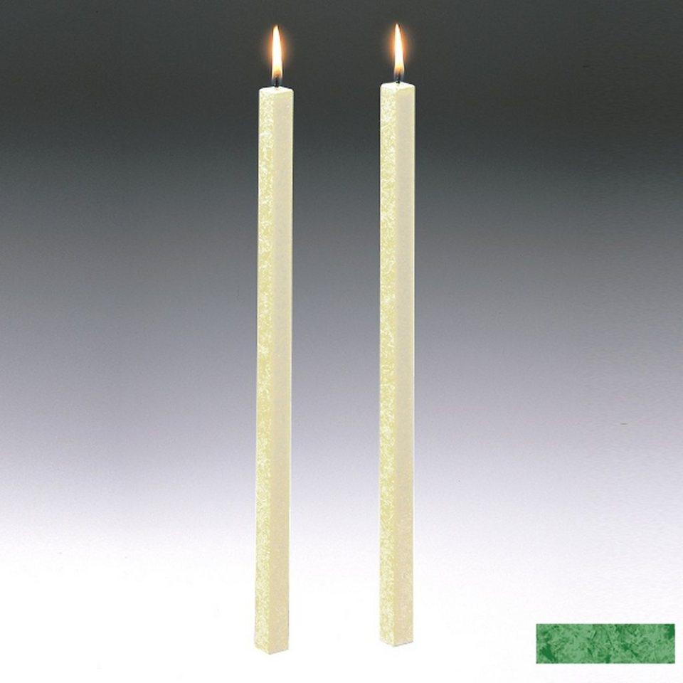 Amabiente Amabiente Kerze CLASSIC Blattgrün 40cm - 2er Set in blattgrün