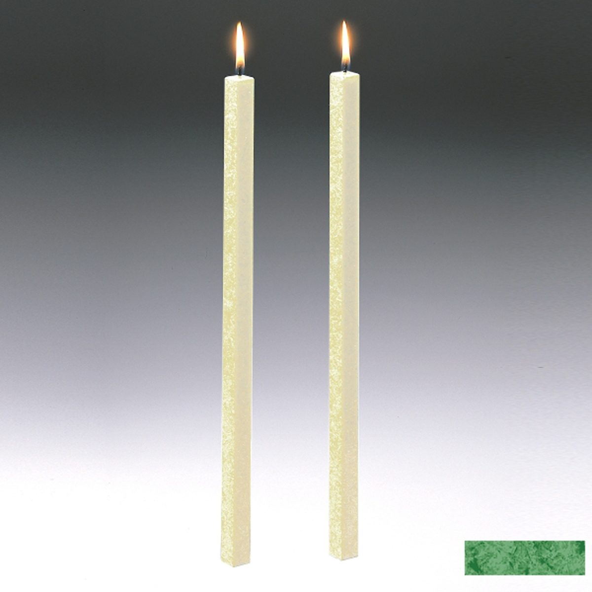 Amabiente Amabiente Kerze CLASSIC Blattgrün 40cm - 2er Set