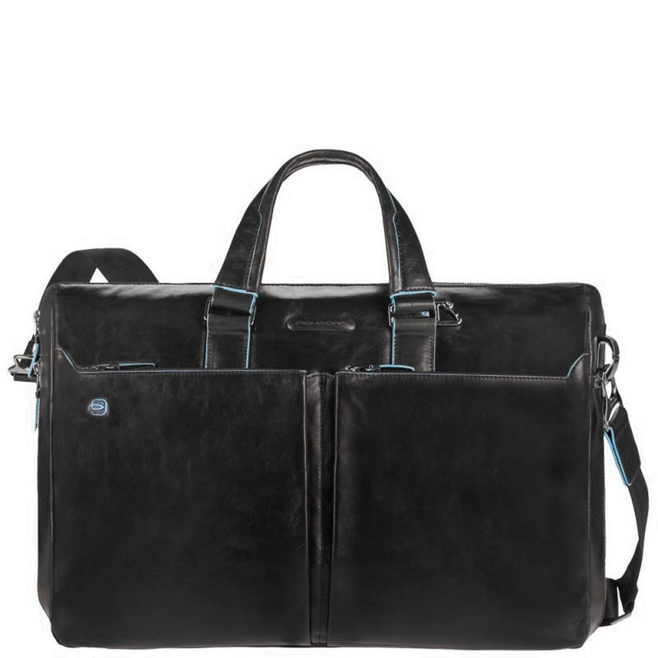 Piquadro Blue Square Aktentasche Leder 44 cm Laptopfach in black