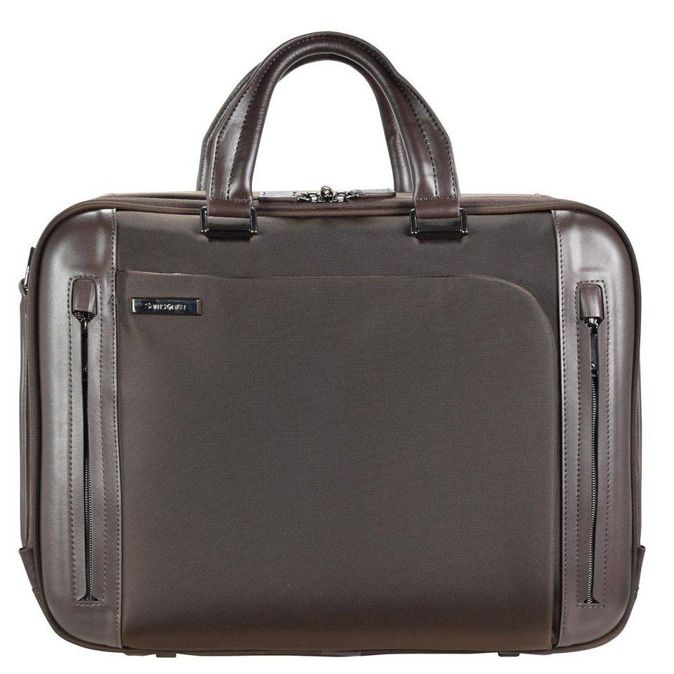 Samsonite Business Tech Aktentasche 44 cm Laptopfach in brown