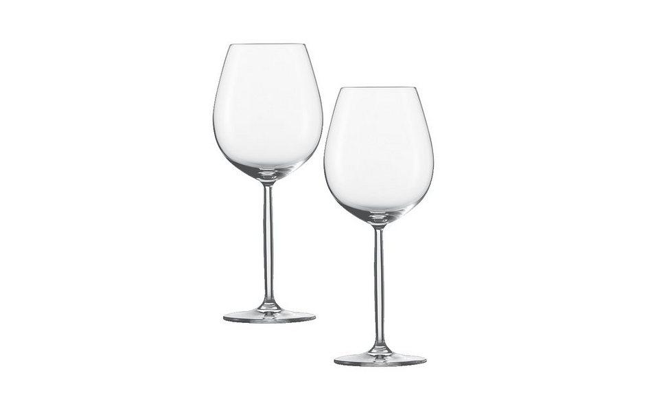 Schott Zwiesel Set: Wasser / Rotweinglas 2er-Set »Diva« in Transparent