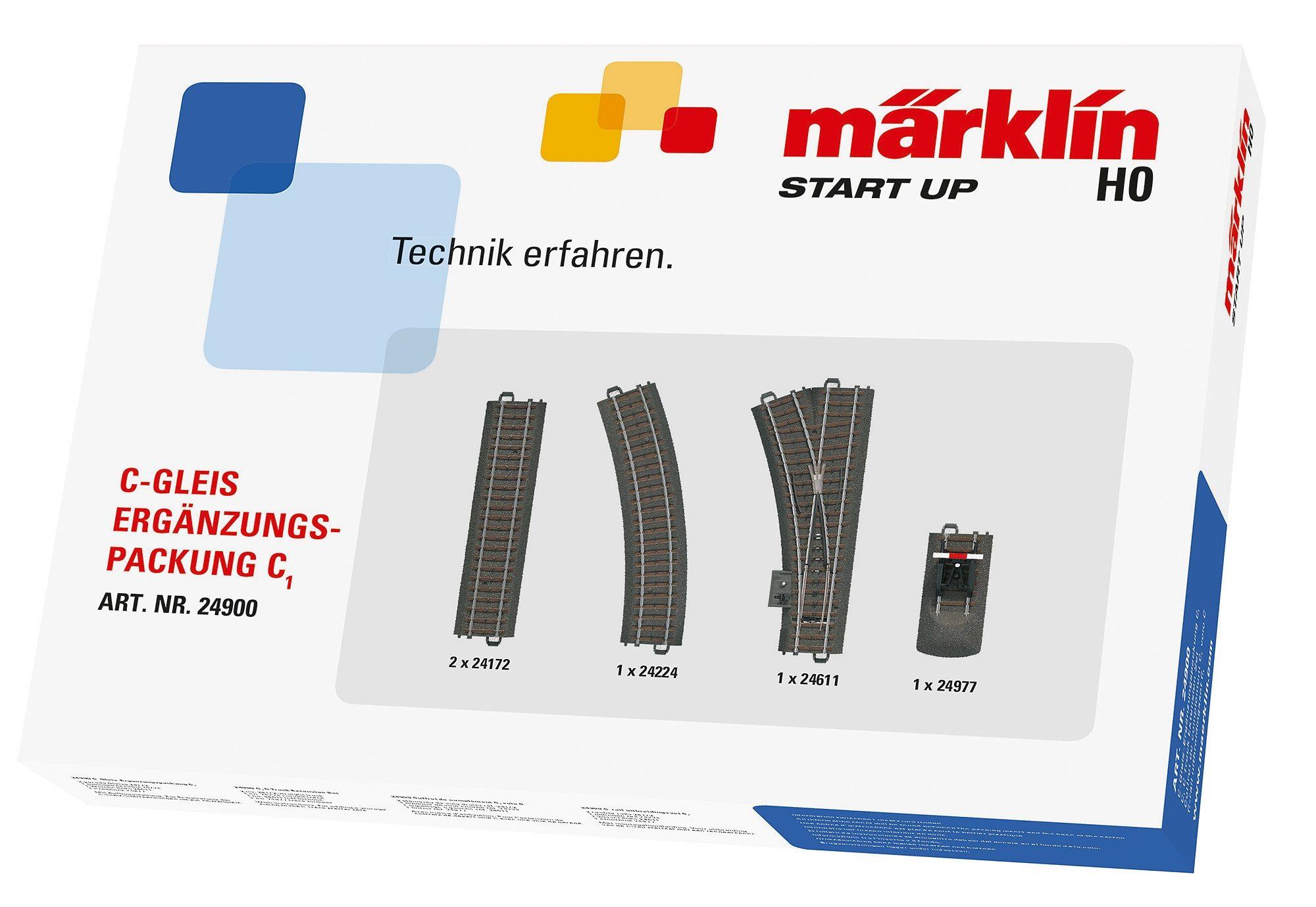 Märklin C-Gleis-Ergänzungspackung, »Märklin Start up - C1 - 24900«