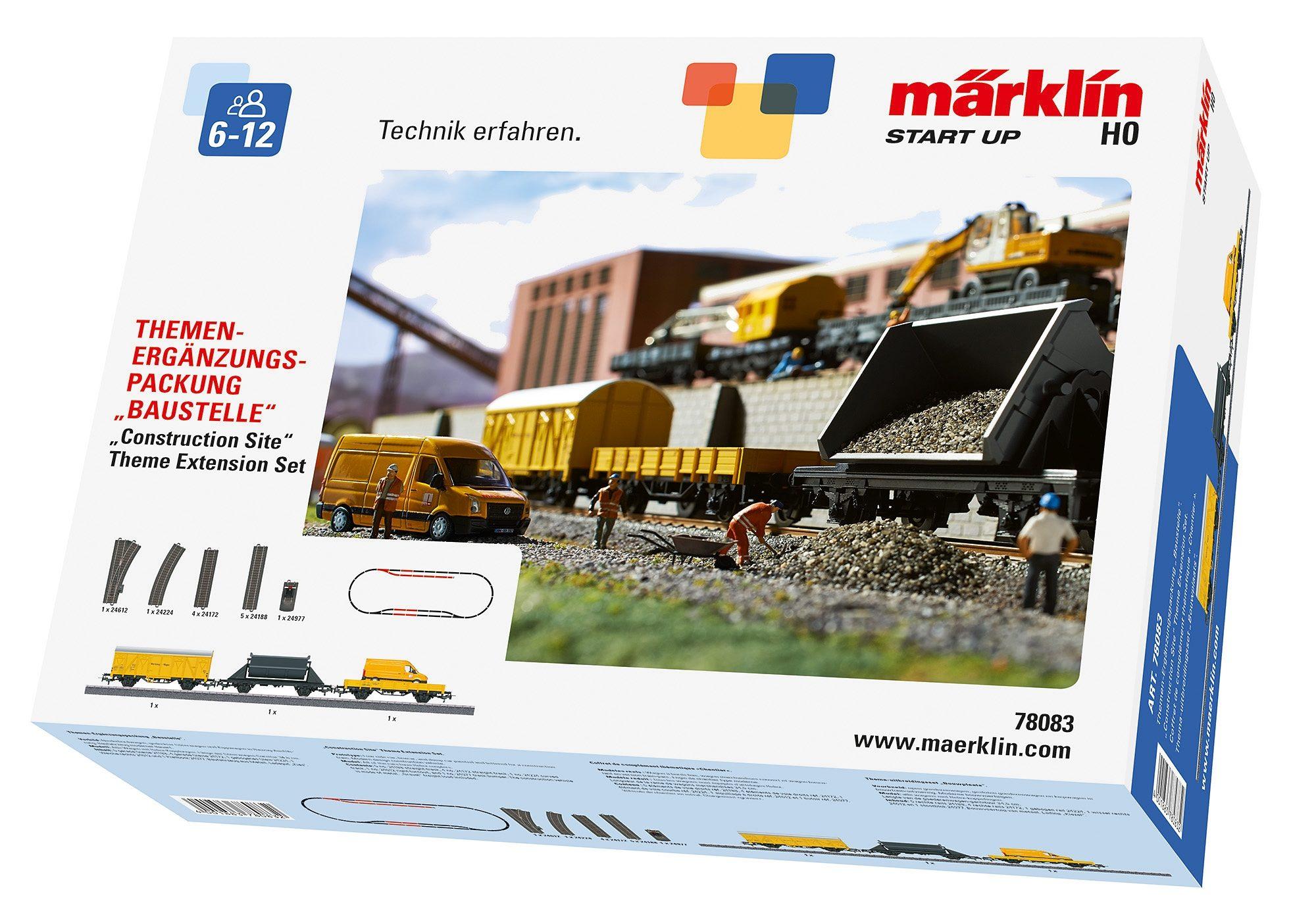 Märklin Erweiterungs-Set, »Märklin Start up - Themen-Ergänzungspaket Baustelle - 78083«.
