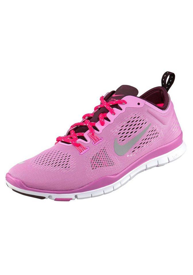 Nike Free 5.0 TR Fit 4 Wmns Fitnessschuh in Rosa-Silberfarben