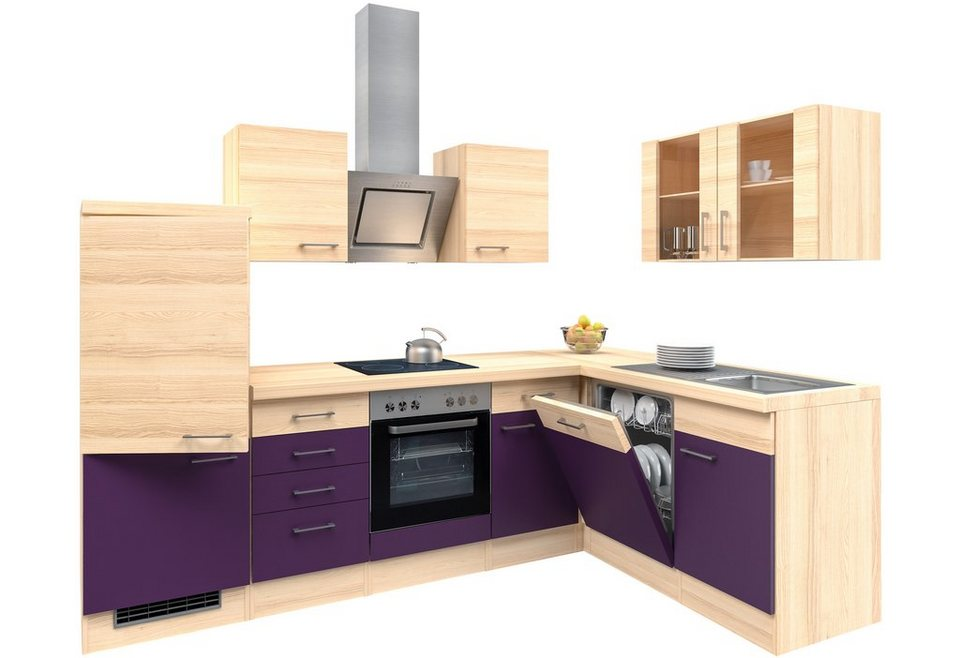 k chenzeile mit e ger ten winkel k chenzeile portland 280 x 170 cm online kaufen otto. Black Bedroom Furniture Sets. Home Design Ideas