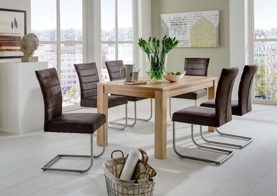 niehoff sitzm bel esstisch mit auszugsfunktion breite 140. Black Bedroom Furniture Sets. Home Design Ideas