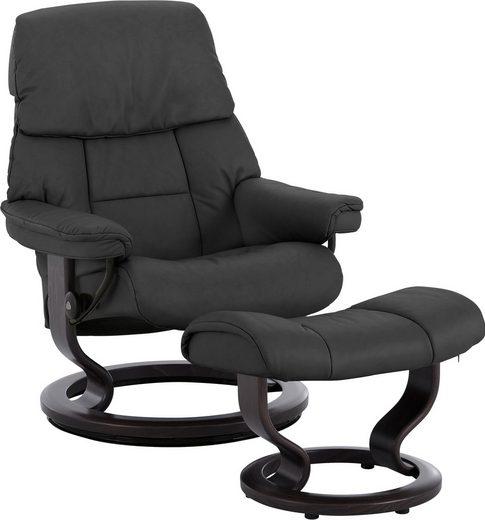 Stressless® Relaxsessel »Ruby«, mit Hocker, mit Classic Base, Größe S, mit Schlaffunktion