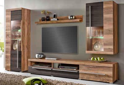 Wohnwand holz massiv  Massivholz Wohnwand kaufen » Holz & Holzoptik | OTTO