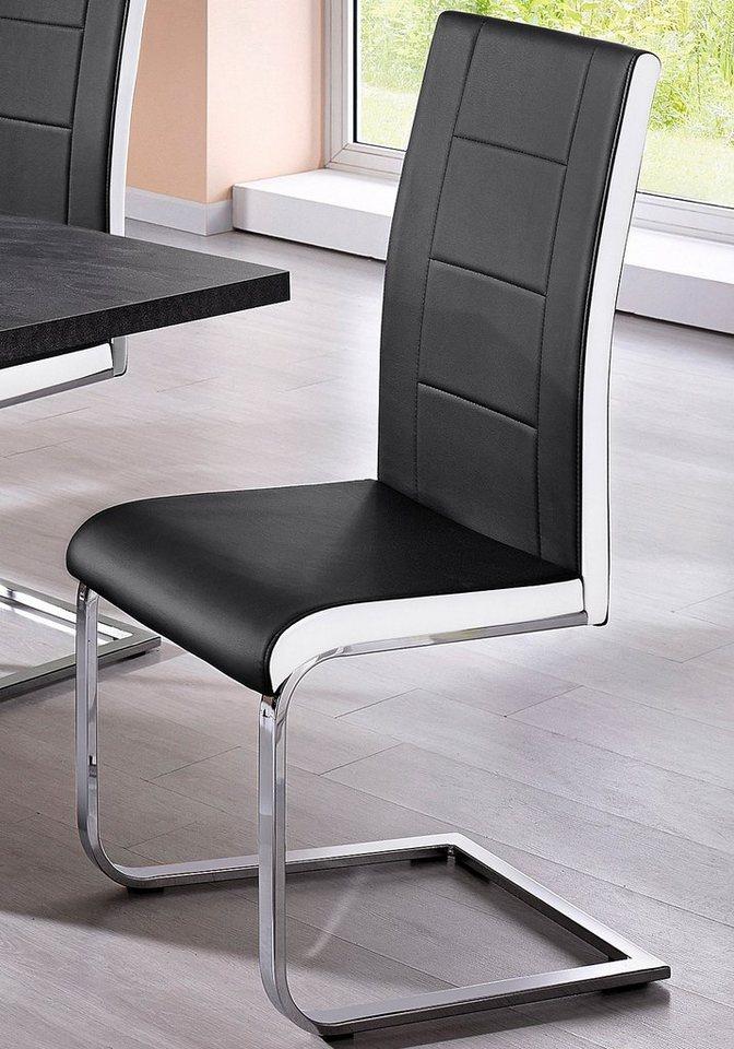 Stühle (2 oder 4 Stck.) in schwarz-weiß