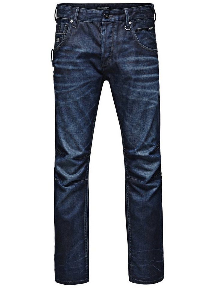 Jack & Jones Boxy Powel JJ 811 Loose Fit Jeans in Medium Blue Denim