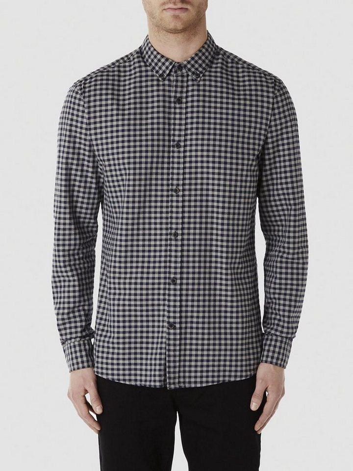Selected Kariertes - Langarmhemd in Grey
