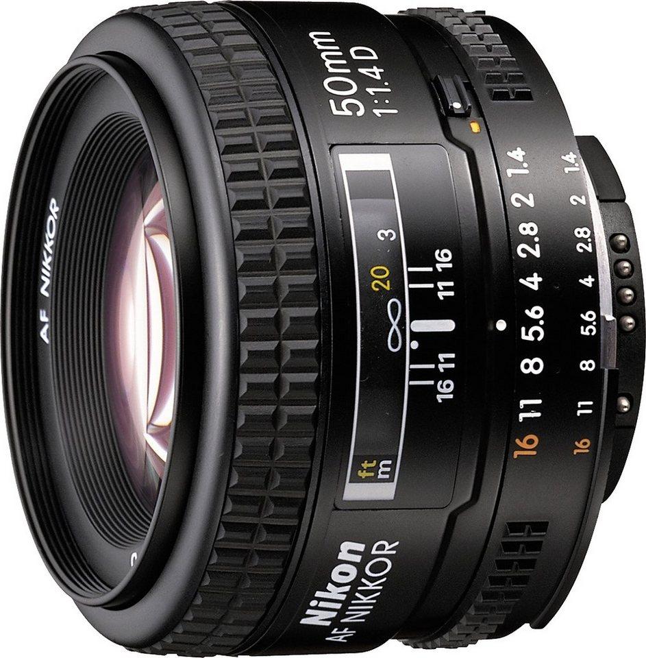 Nikon AF NIKKOR 50 mm 1:1,4 Festbrennweite Objektiv in schwarz