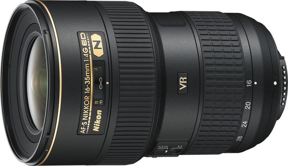 Nikon AF-S NIKKOR 16-35 MM 1:4G ED VR Ultraweitwinkel Objektiv in schwarz