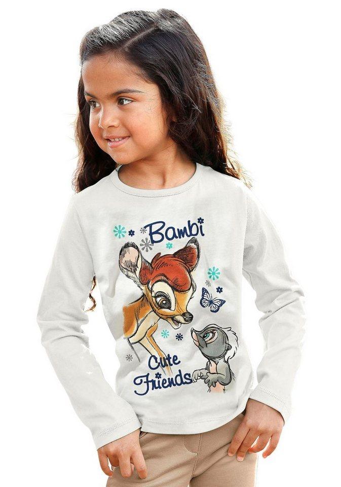 Disney Langarmshirt mit Bambi-Druck in natur
