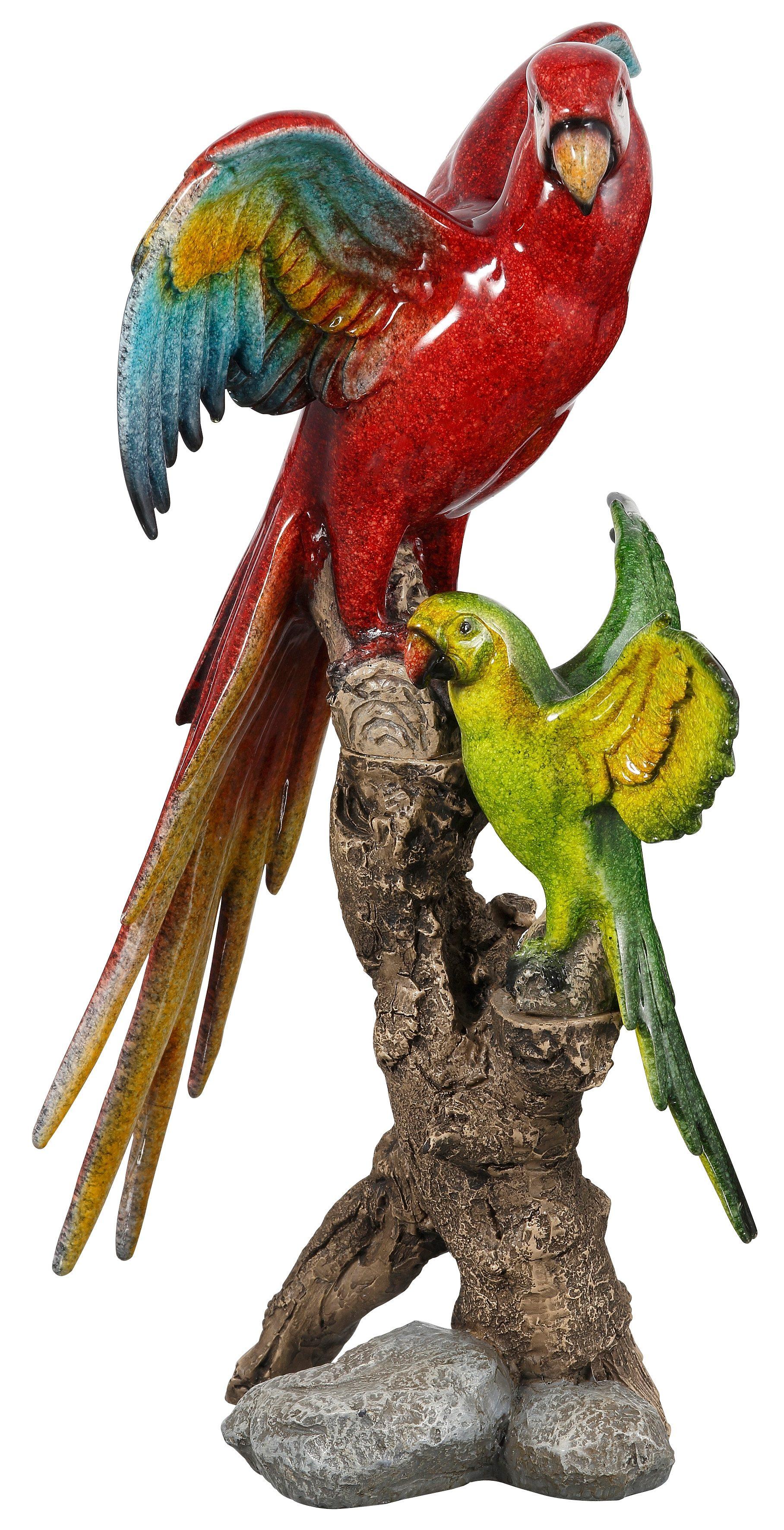 Dekofigur, Home affaire, »Papageien auf Stamm«, Höhe 36 cm