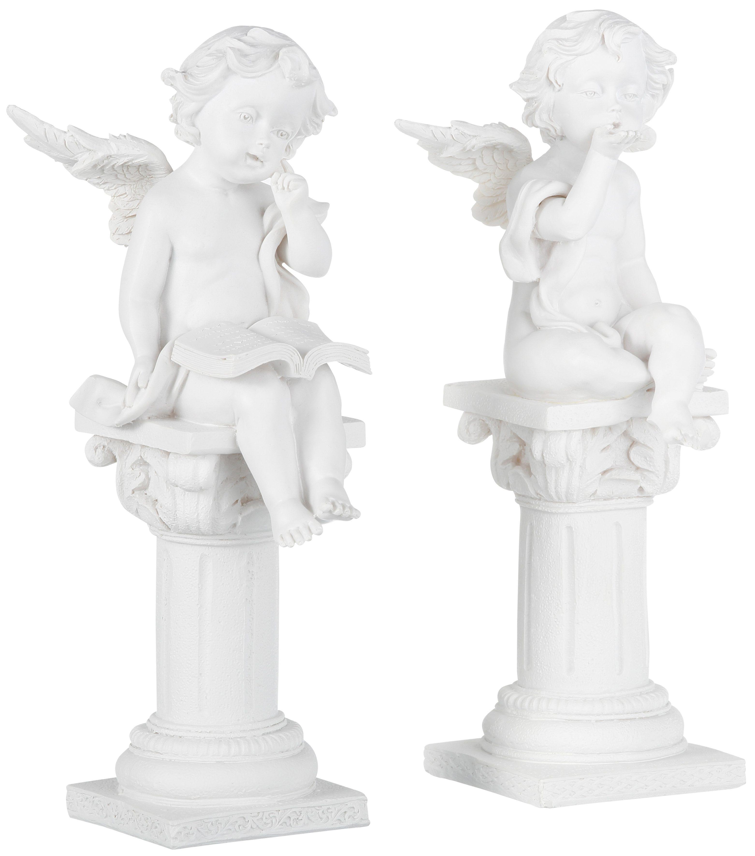 Dekofigur, Home affaire, »Engel auf Säule« (2-tlg.)