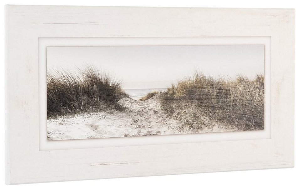Holzbild, Home affaire, 80/40 cm in creme