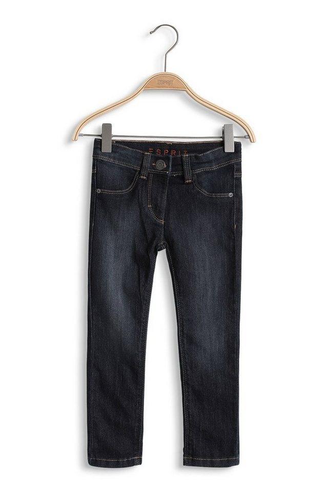 ESPRIT Stretch-Jeans mit extra dunkler Waschung in SUPERDARK DENIM