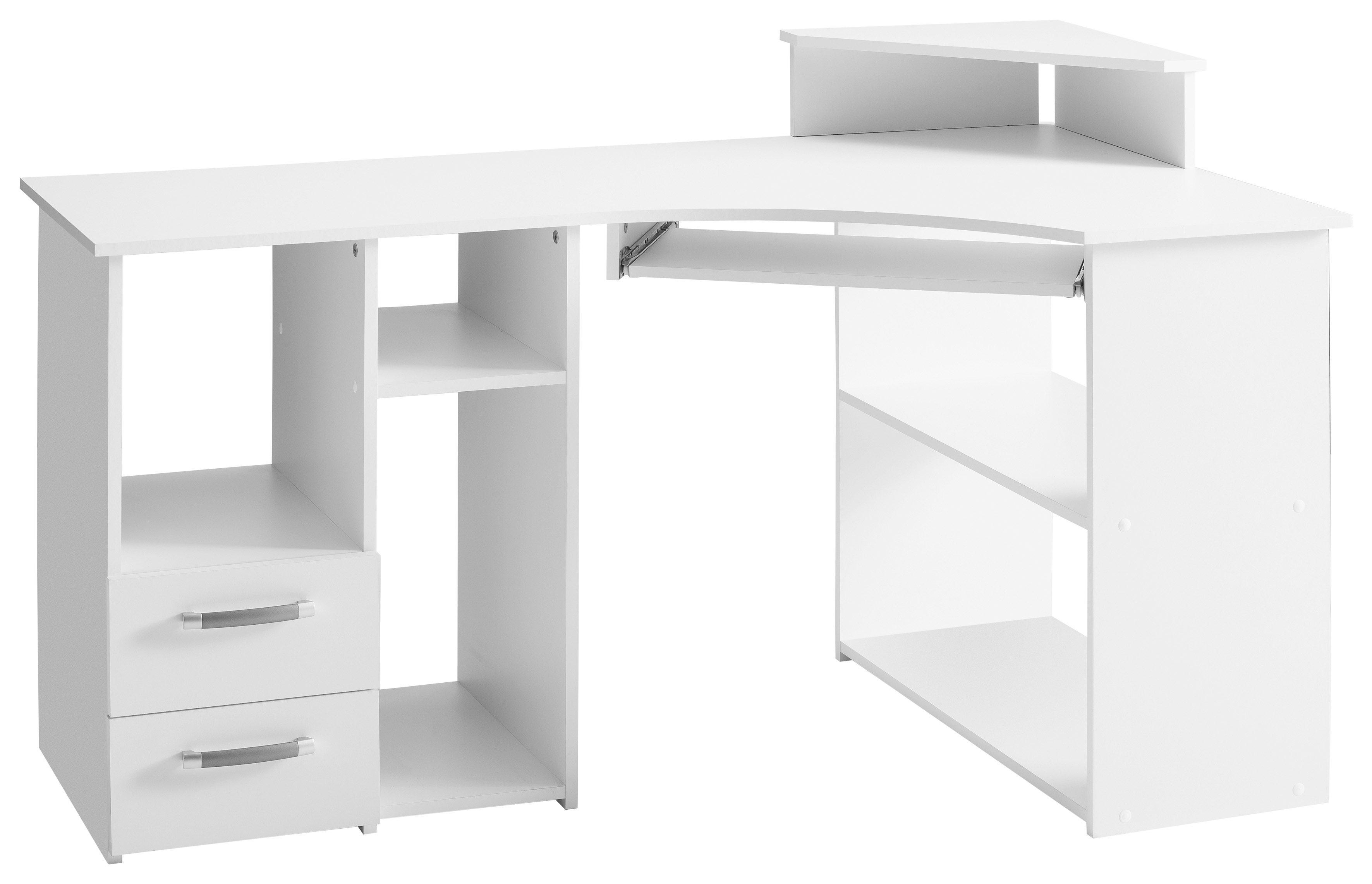 Schreibtisch »4505«, mit Tastaturauszug und Towerfach | Büro > Bürotische > Schreibtische | Kunststoff - Melamin