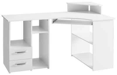 Schreibtisch »Sam«, mit Tastaturauszug und Towerfach