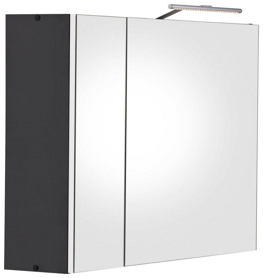 Kesper Spiegelschrank »Nora« mit LED-Beleuchtung in grau