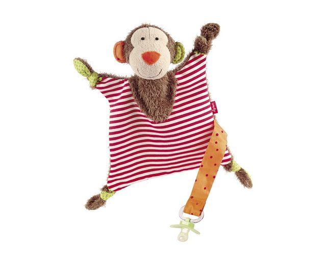 Schnuffeltuch, »Affe mit Schnullerhalteband«, sigikid®