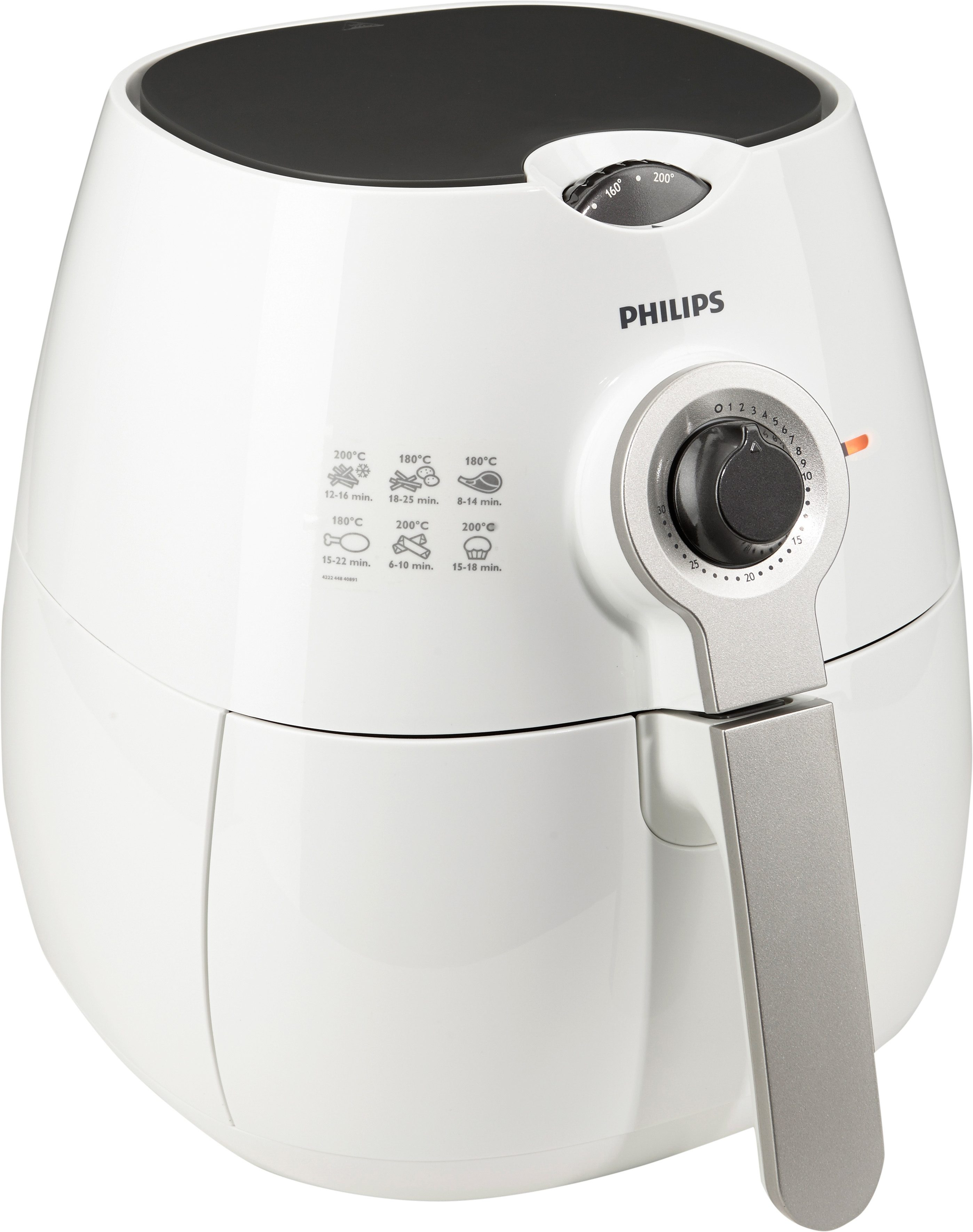 Philips Heißluft Fritteuse HD9220/50 Airfryer Viva Collection mit 0,8 kg Kapazität, weiß