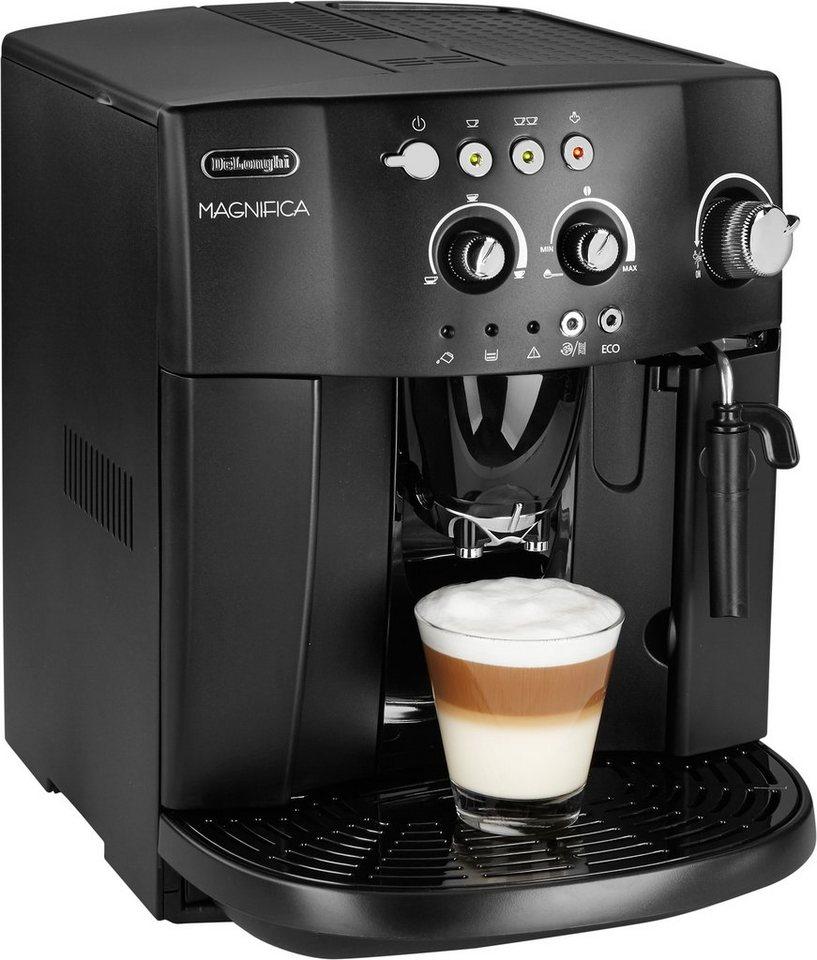 De'Longhi Kaffeevollautomat »Magnifica ESAM 4008«, 15 bar, schwarz in schwarz