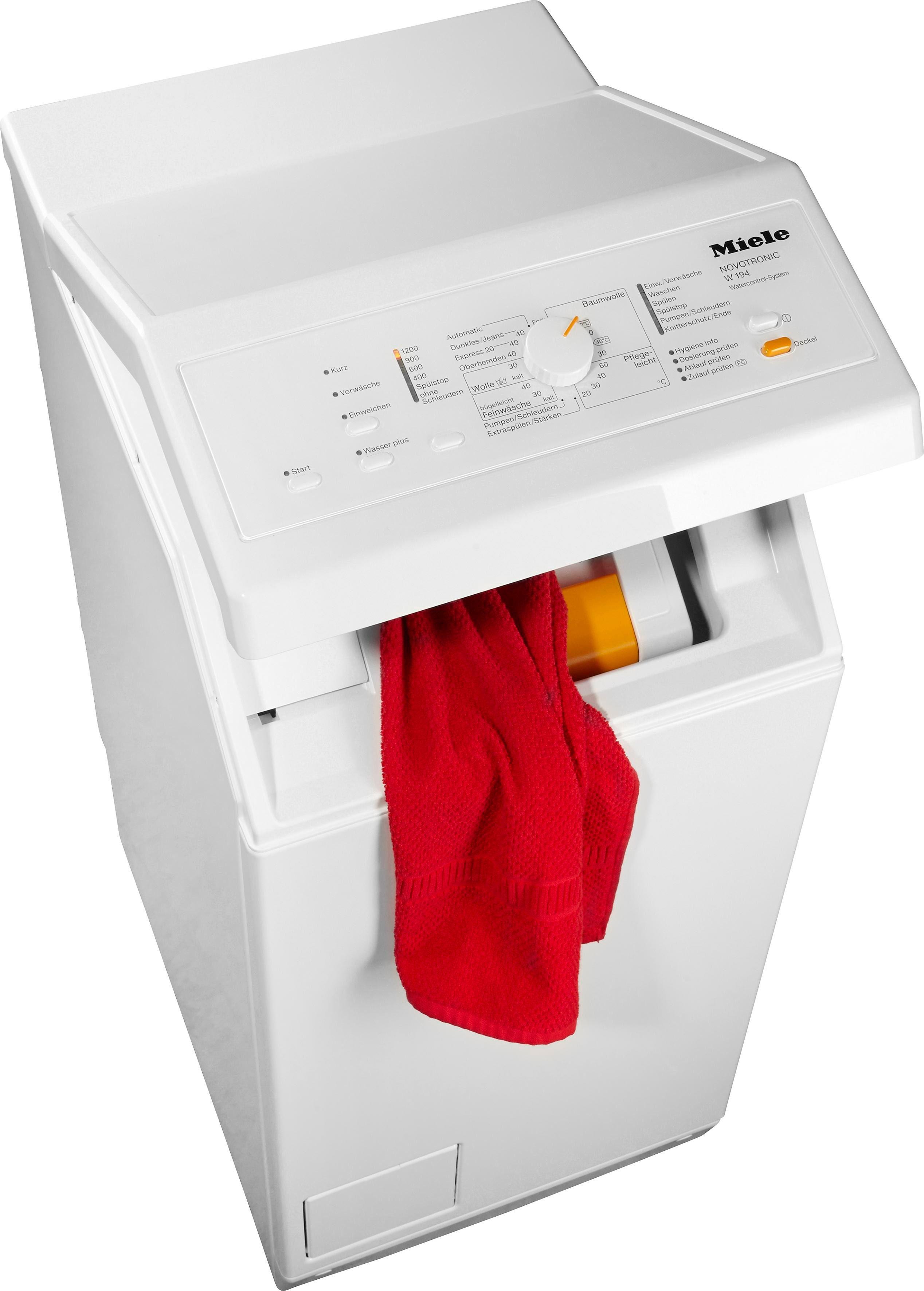 MIELE Waschmaschine Toplader W 194 WCS, A+++, 6 kg, 1200 U/Min