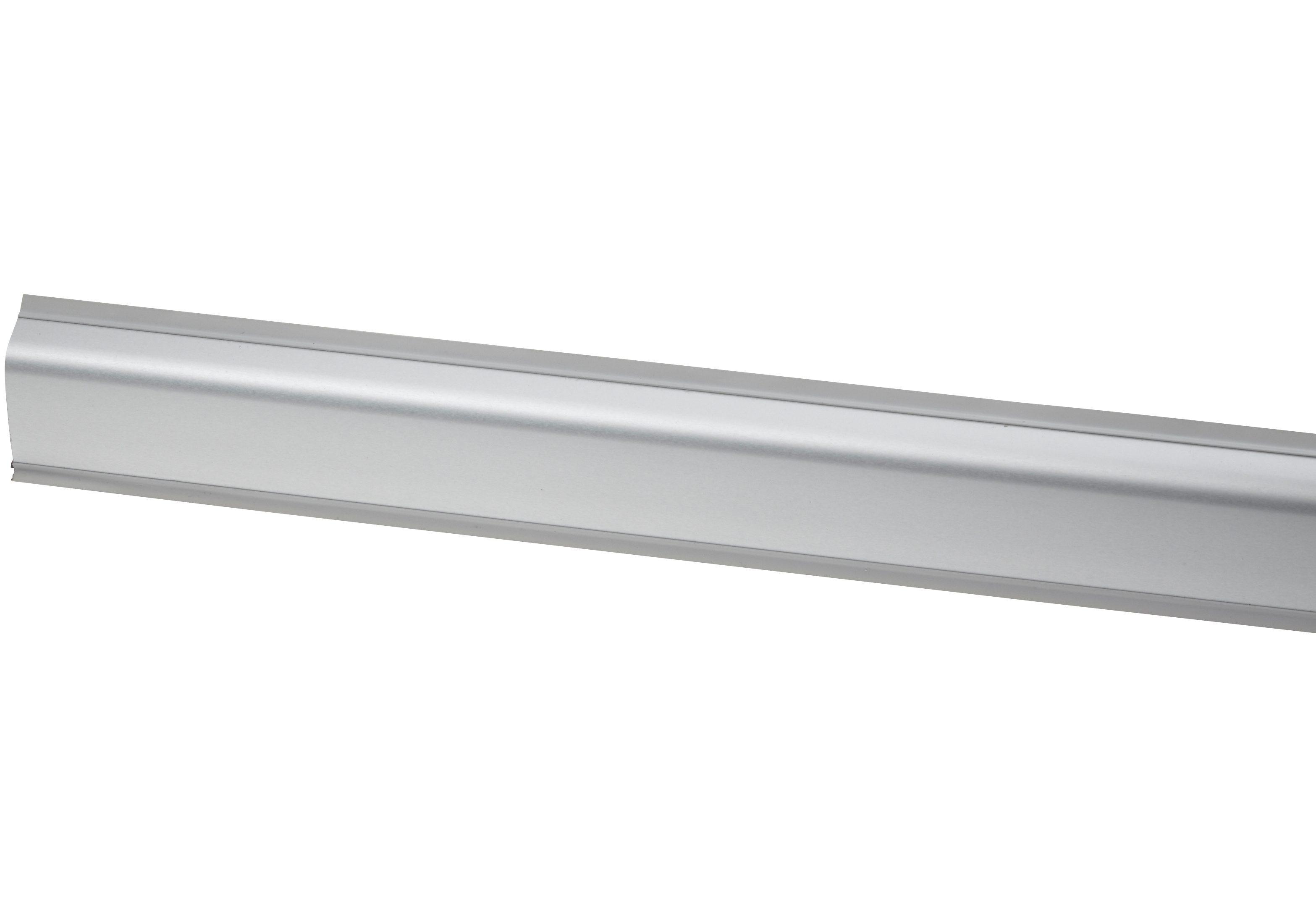 Wandabschlussleiste »Alu«, Länge 5 m (inkl. Eckverbinder und Endkappen)