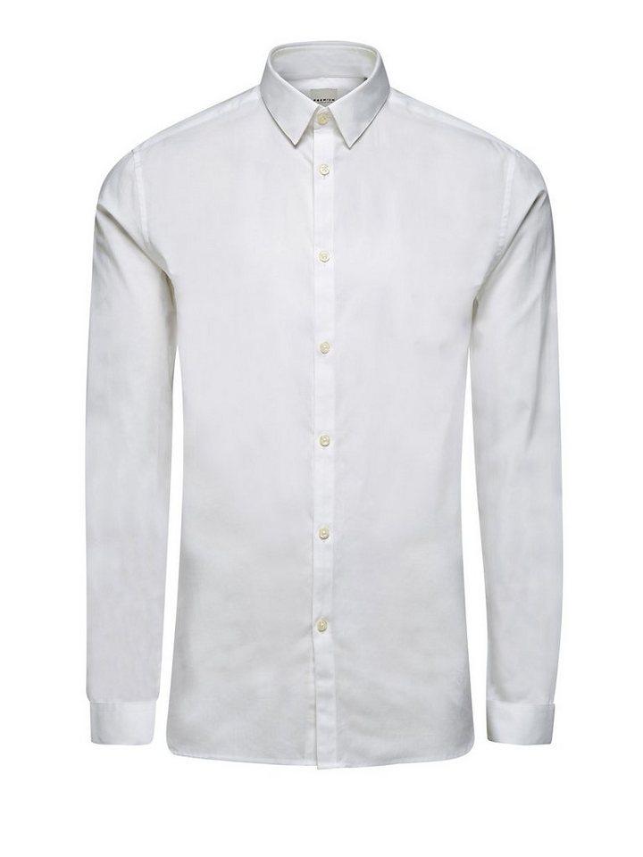 Jack & Jones Schlichtes Popelin Langarmhemd in White