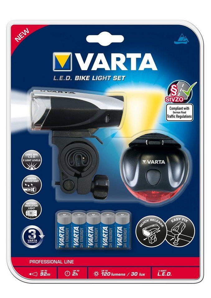 fahrrad beleuchtungs set led bike light varta otto. Black Bedroom Furniture Sets. Home Design Ideas