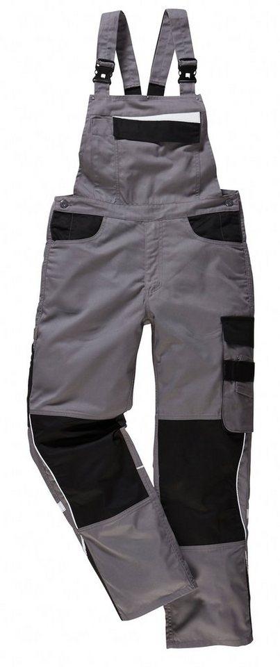 Latzhose »Extreme« in grau/schwarz