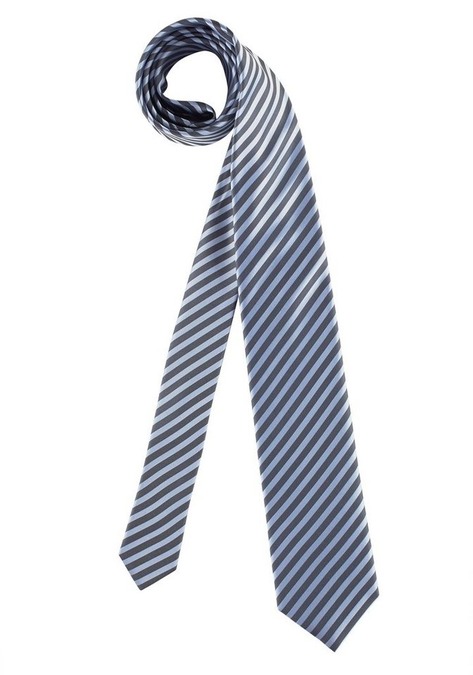 Olymp Krawatte in blau-gestreift