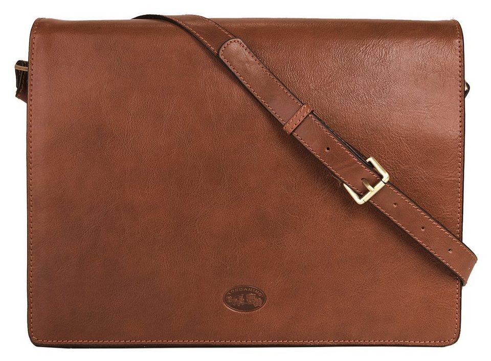 Toscanino Leder Messengerbag in braun