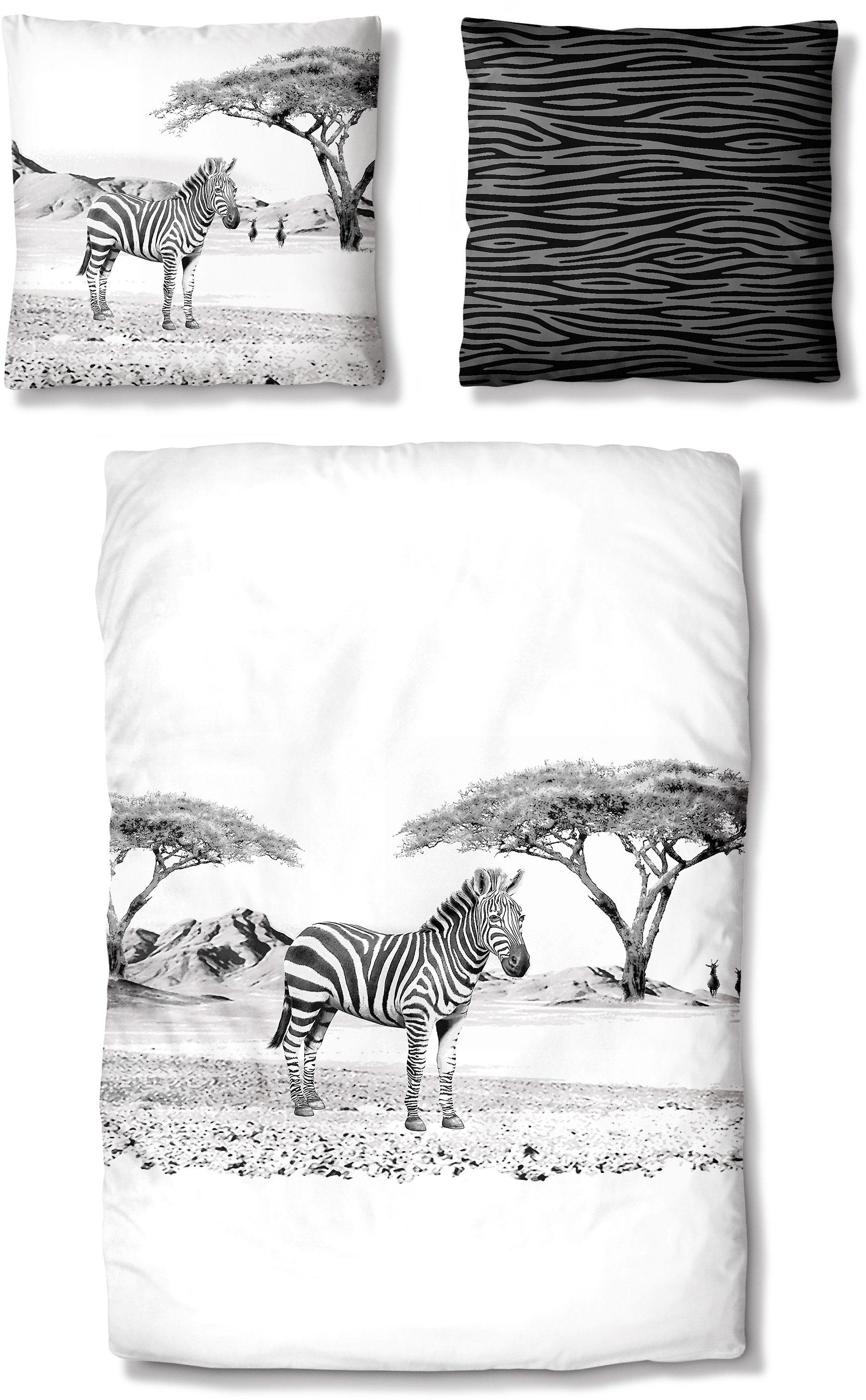 Bettwäsche, Auro Hometextile, »Zebra«