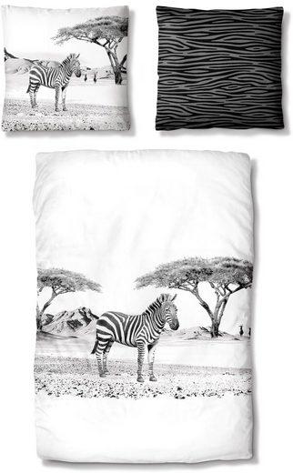 Bettwäsche »Zebra«, Auro Hometextile, mit einem Zebra