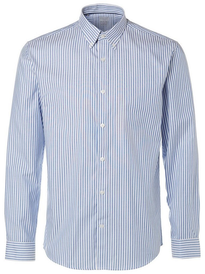 Selected Slim-Fit- Businesshemd in Air Blue