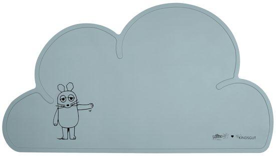 Platzset, »Platzdeckchen X Die Maus«, Kindsgut, Tisch-Set Wolke, Unterlage in kinderfreundlichem Design und dezenten Farben mit der Maus, frei von BPA, Aquamarin