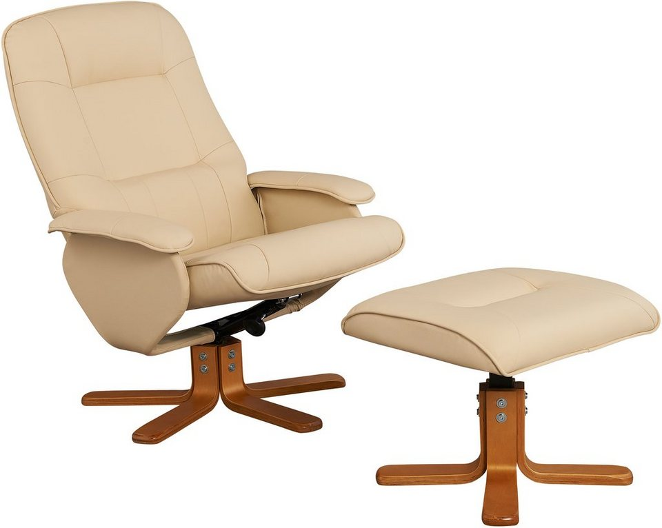 Home affaire Relaxsessel & Hocker »Nice« in creme
