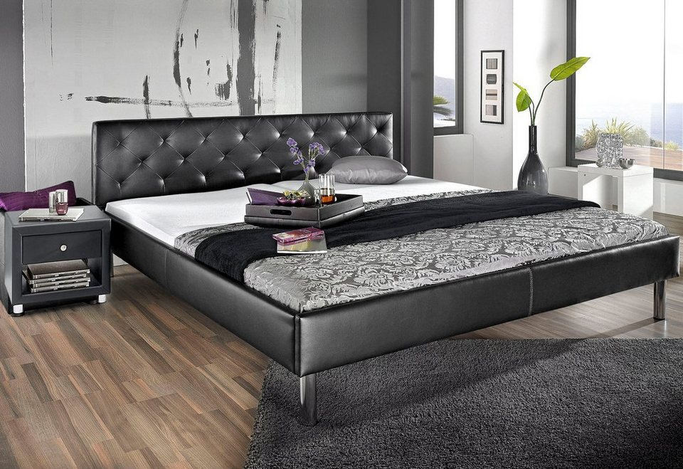 bett atlantic home collection pflegeleichtes kunstleder f e aus metall online kaufen otto. Black Bedroom Furniture Sets. Home Design Ideas