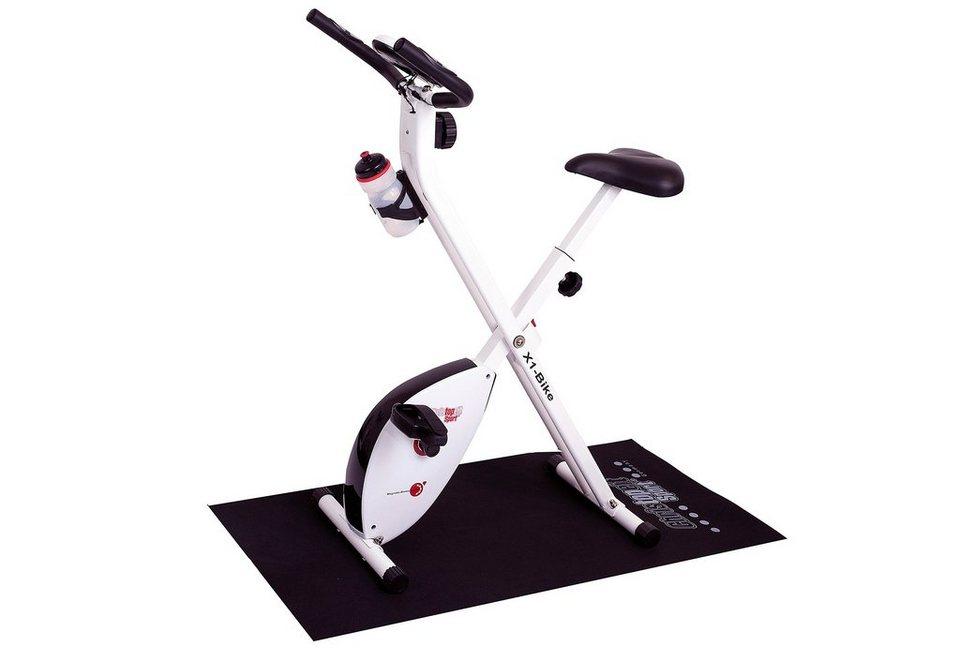 Heimtrainer-Set inkl. Unterlegmatte, »X-1 Bike«, Christopeit Sport®