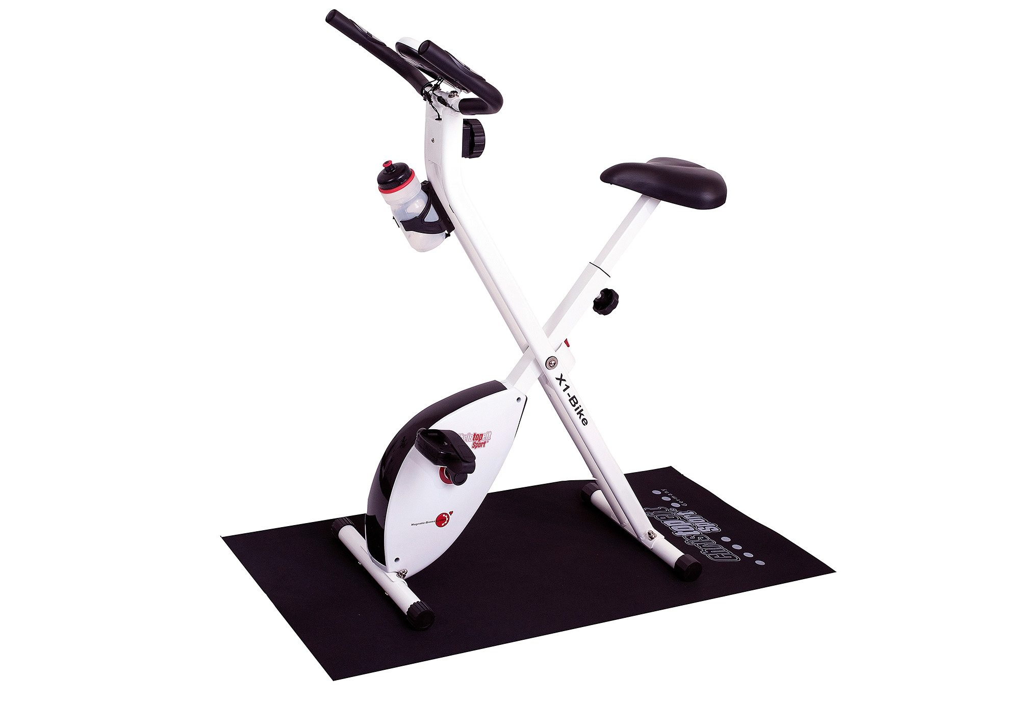 Heimtrainer-Set inkl. Unterlegmatte, »X-1 Bike«, Christopeit Sport®