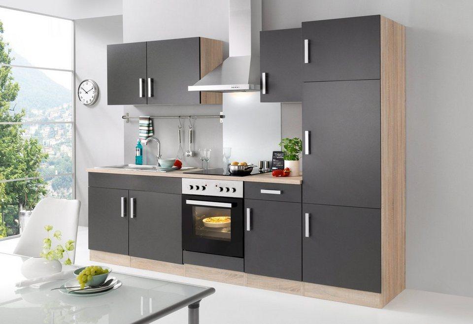 HELD MÖBEL Küchenzeile mit E-Geräten »Toronto, Breite 270 cm ...