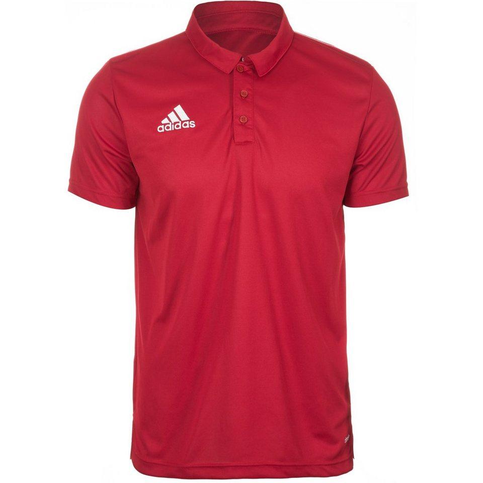 adidas Performance Core 15 Poloshirt Herren in rot / weiß