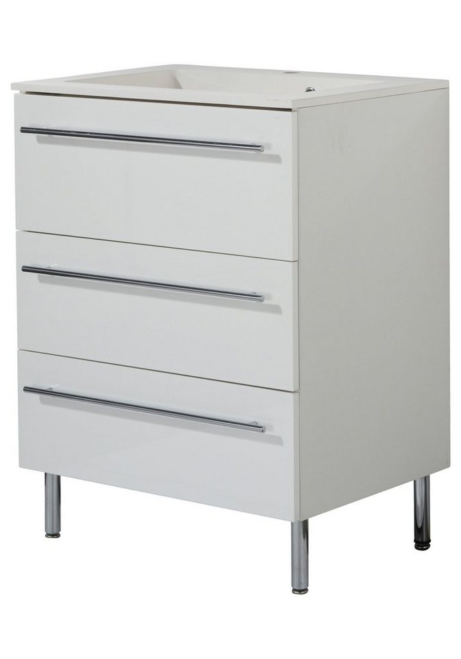Waschtisch »Topline«, 65 cm, (2-tlg.) in weiß