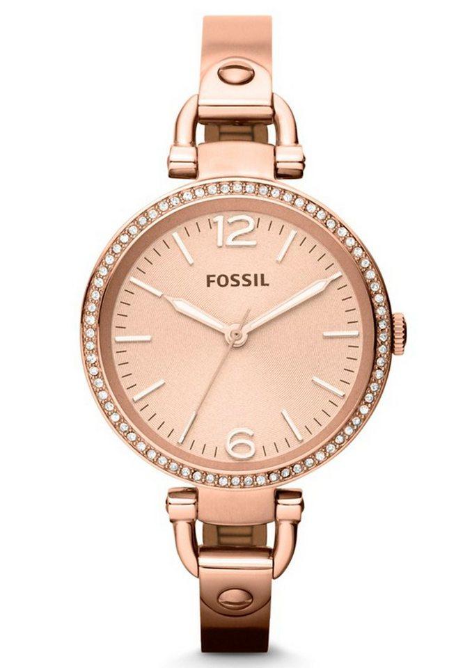 "Fossil, Armbanduhr, ""GEORGIA, ES3226"" in goldfarben"